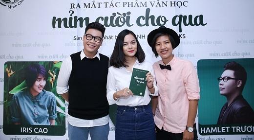 Phạm Quỳnh Anh tới chúc mừng hai người bạn thân thiết.