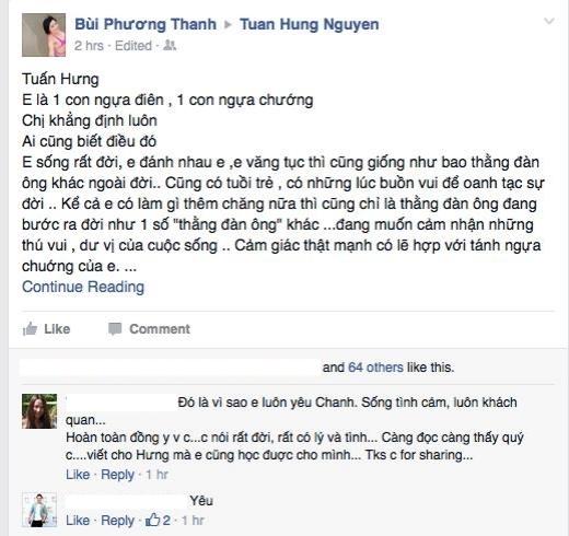 Sau Mỹ Linh, Phương Thanh gửi lời nhắn nhủ đầy chân tình đến Tuấn Hưng - Tin sao Viet - Tin tuc sao Viet - Scandal sao Viet - Tin tuc cua Sao - Tin cua Sao