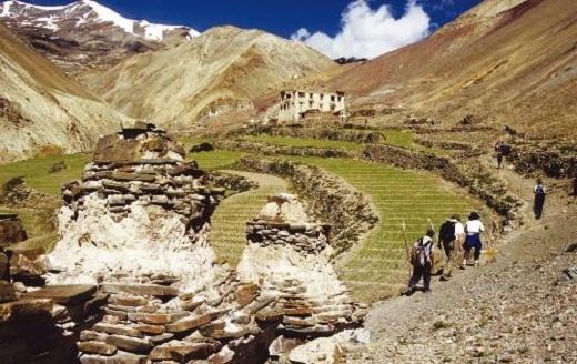 Một thung lũng ở Leh Ladakh.