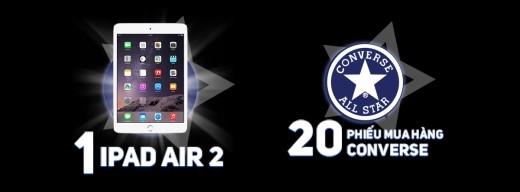 Giải thưởng iPad Air 2 và phiếu mua hàng Converse dành cho người chiến thắng.