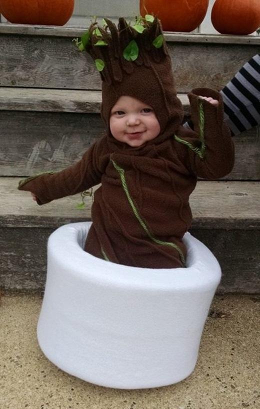 Bố mẹ của em bé này thì lại là fan chính hiệu của nhân vật Groot trong phim Vệ binh dải ngân hà.