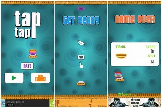 Tap Tap là tựa game lấy cảm hứng từ việc xếp chén bát. Bạn phải điều khiển chiếc bát của mình xếp chồng lên và điều này là không hề dễ dàng. Hãy thử xem bạn xếp được bao nhiêu chiếc bát nhé!