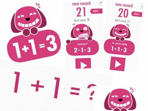 Trò chơi này có tên gọi là một phép tính: 1+2=3. Bạn có thể thấy phép tính đó đơn giản nhưng khi tham gia trò chơi, bạn sẽ không còn thấy như vậy nữa.