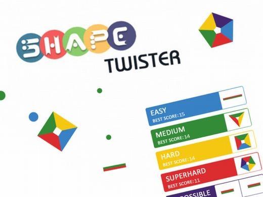 Trong khi đó, Shape Twister lại hấp dẫn người chơi dựa trên sự nhanh nhạy của mắt để nhận biết màu sắc và tốc độ điều khiển của đôi bàn tay để hứng những chấm tròn rơi từ trên trời xuống, sao cho đồng màu với các cạnh của một hình khối đa sắc.