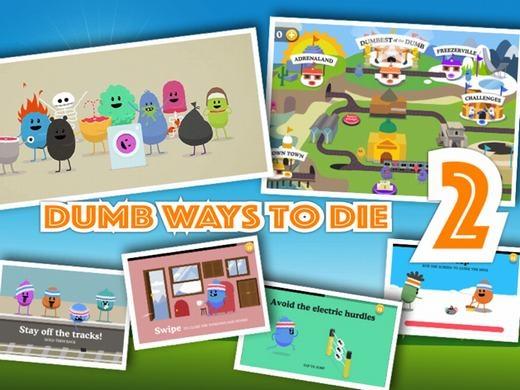 Đúng như cái tên Dumb Ways to Die 2, trò chơi này yêu cầu bạn phải giúp những nhân vật trong game tránh khỏi những cái chết ngớ ngẩn và vớ vẩn nhất. Tốc độ của đôi bàn tay là nhân tố quyết định đến sự thắng thua của trò chơi này.