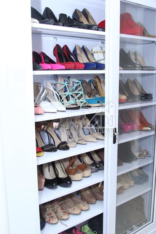Tủ giày đáng ghen tị của Diễm My,trong đó có những đôi giày của nhiều thương hiệu nổi tiếng như Chanel, Valentino, Christian Louboutin, BeBe... - Tin sao Viet - Tin tuc sao Viet - Scandal sao Viet - Tin tuc cua Sao - Tin cua Sao