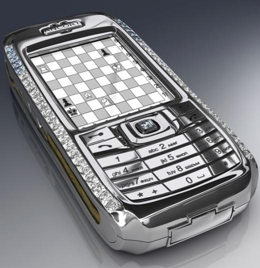 Chiếc điện thoại thông minh do Peter Aloissonthiết kế có giá trị 1,3 triệu đô la Mỹ (khoảng 28 tỉ đồng) là một trong những chiếc điện thoại đắt nhất thế giới khi được gắn 50 viên kim cương (bao gồm kim cương xanh, kim cương đen và kim cương trắng) xung quanh bề mặt cùng với phím điều khiển và logo được chế tác bằng vàng 18 cara.