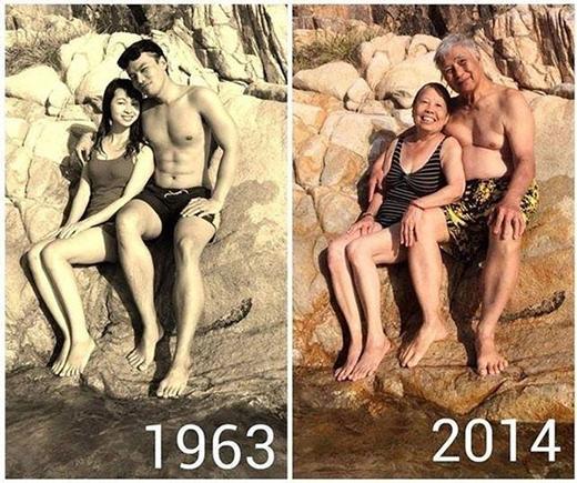 Tình cảm vẫn mặn nồng như cách đây 50 năm...