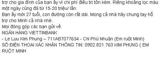 MC Nguyên Khang tiết lộ về lí do bệnh tình của Quang Minh đột nhiên chuyển biến xấu và mong mỏi nhận được sự giúp đỡ từ mọi người. - Tin sao Viet - Tin tuc sao Viet - Scandal sao Viet - Tin tuc cua Sao - Tin cua Sao