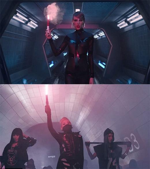 Những hình ảnh được so sánh giữa hai MV.