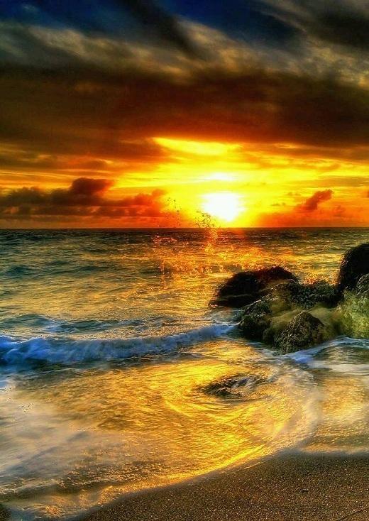 Biển Miami vốn đông người nay trở nên khác lạ vào một buổi chiều văng vẻ.