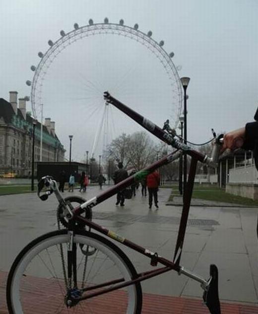 Chiếc xe đạp có bánh xe đẹp nhất thế giới!