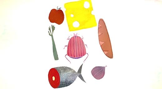 Ngày xưa sâu bọ là thức ăn đầy dinh dưỡng của con người.