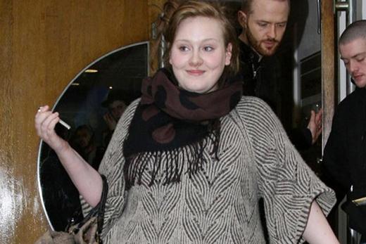 Adele mũm mĩm đáng yêu đã từng tự tin để mặt mộc trước công chúng.
