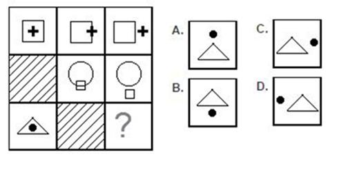 Câu 9: Trong dấu chấm hỏi là hình nào?