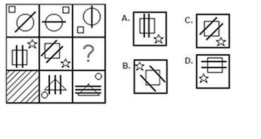 Câu 10: Chọn hình thích hợp nhất điền vào dấu chấm hỏi
