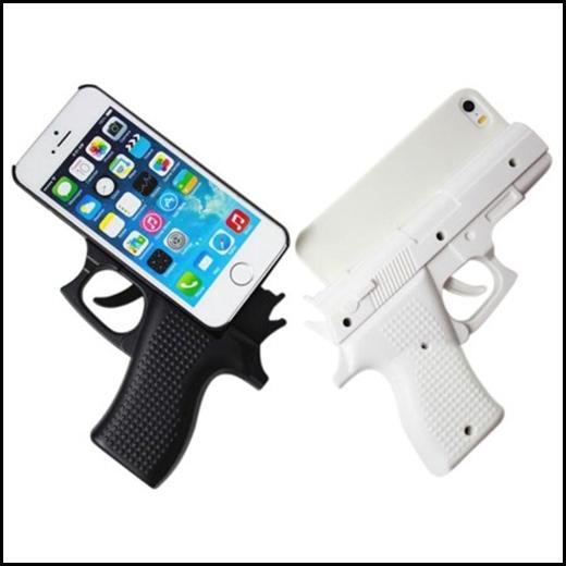 Bao da giờ xưa rồi, giờ là bao điện thoại hình khẩu súng.