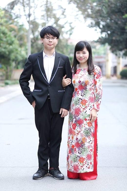 Minhchụp cùng cô giáo.
