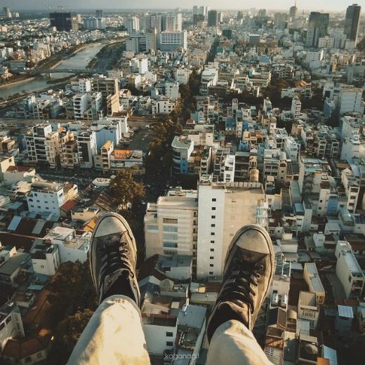 Lửng lơ với vẻ đẹp ảo diệu của Sài Gòn chụp từ trên cao