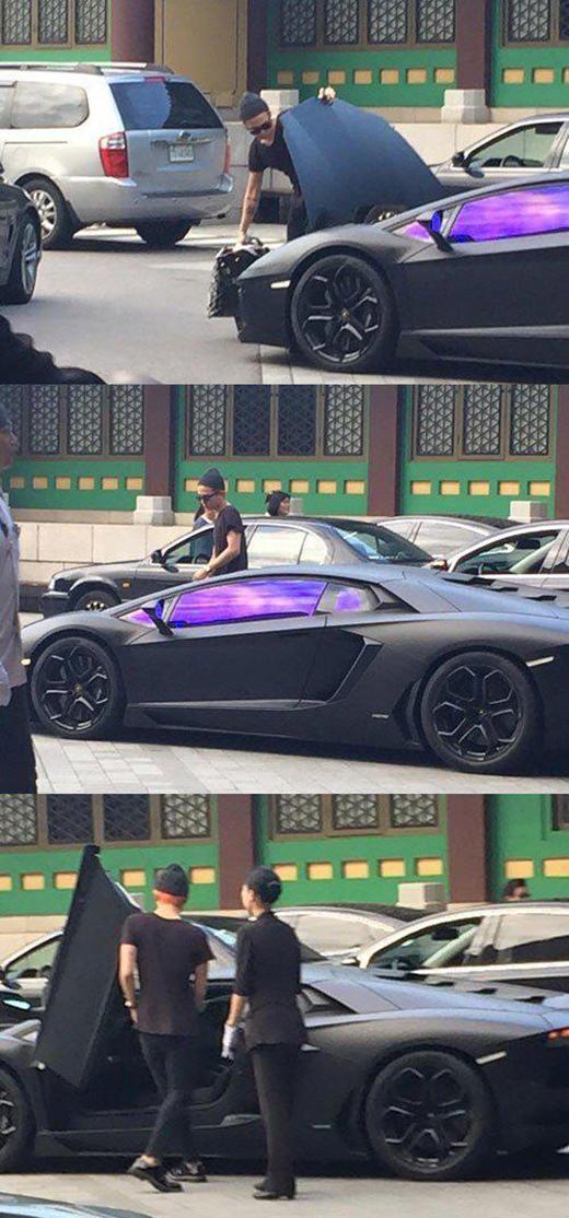 Bức ảnh của G-Dragon bên siêu xe được lan truyền với tốc độ chóng mặt vào sáng nay 27/7.