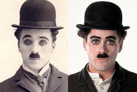 Robert Downey Jr trong vai Charlie Chaplin (phim Chaplin).