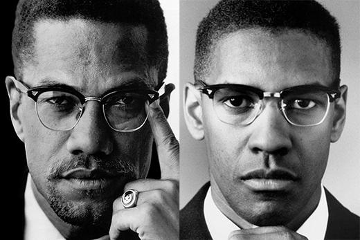 Denzel Washington trong vai Malcolm X (phim Malcolm X).