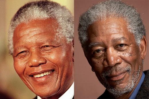 Morgan Freeman trong vai Nelson Mandela (phim Invictus).