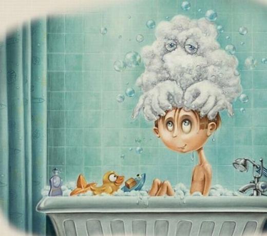 Mỗi lần được tắm là một lần được bạn 'Xà Phòng' xoa bóp cực nhẹ nhàng, êm ái.