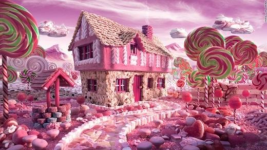 Cuối cùng thì cũng đã có người biến ước mơ của mọi trẻ nhỏ thành hiện thực: một thế giới hoàn toàn từ bánh kẹo ngọt ngào.