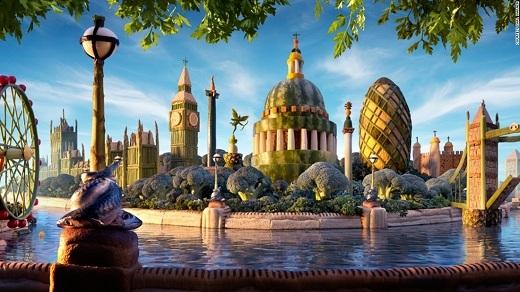 Luân Đônluôn tráng lệ và sang trọng như thế, dù là ảnh đời thực hay được làm từ thức ăn.