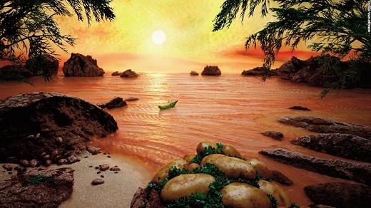 Những lát cá hồi tươi ngon này có làm bạn bị nhầm thành mặt nước biển gợn sóng, chuyển màu cam dưới nắng hoàng hôn không?