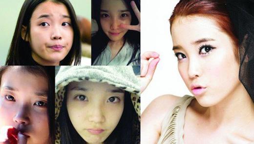 Dù không trang điểm, IU cũng vẫn mang vẻ đẹp trong sáng và đáng yêu.
