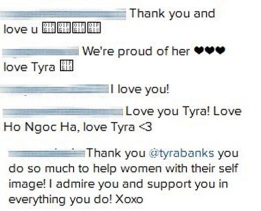 Hành động của Tyra Banks nhận được sự hưởng ứng nhiệt liệt của cư dân mạng. - Tin sao Viet - Tin tuc sao Viet - Scandal sao Viet - Tin tuc cua Sao - Tin cua Sao