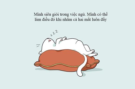 Việc ngủ hoàn toàn rất đơn giản và dễ thực hiện.