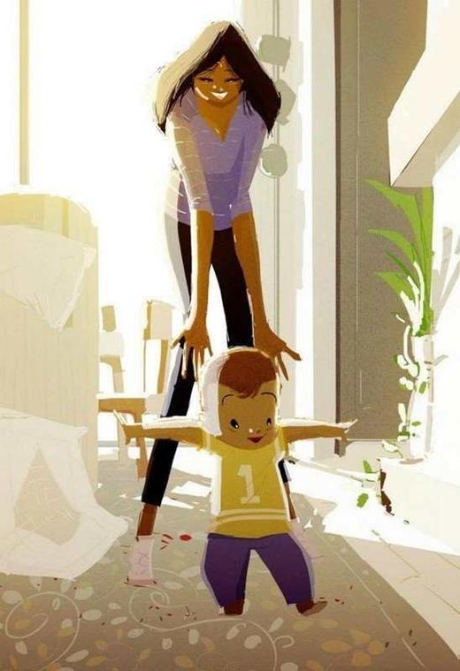 Ấm lòng với bộ tranh ngôi nhà và những đứa trẻ cực đáng yêu