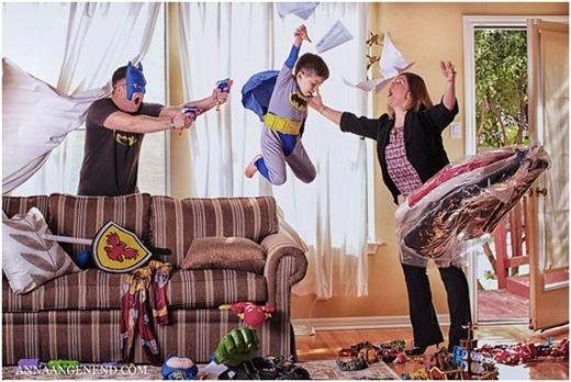 Và cuối cùng, một tấm ảnh dành tặng các ông bố bà mẹ trẻ: Hãy tận hưởng niềm vui từ những bất ngờ mà con yêu mang lại mỗi ngày!