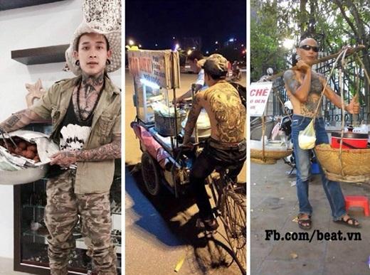 Ai nói cứ xăm mình là hổ báo? Hình ảnh những người đàn ông trên mình xăm trổ nhưng lại ôm mẹt bánh rán, đạp xe bán xôi hay gánh chè rong đủ khiến cho bao người phải phì cười.