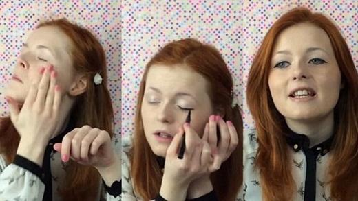 Ngưỡng mộ ý chí mạnh mẽ của cô gái mù dạy trang điểm
