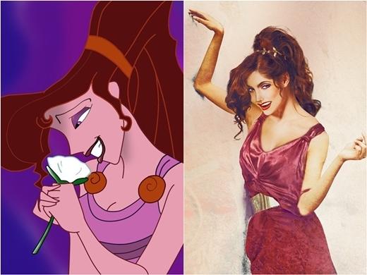 Cô nàng Megara trong phim hoạt hình Hercules lại mang sức cuốn hút, mê hoặc từ ánh mắt sắc sảo.