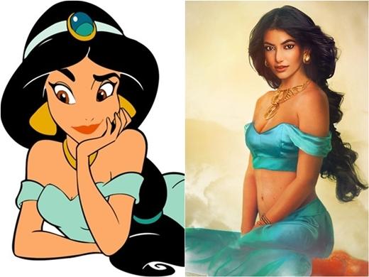 Bạn gái của Aladdin trông quý phái và quyến rũ.