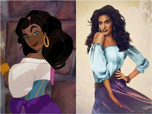 Esmeraldathu hút với mái tóc bồng bềnh.