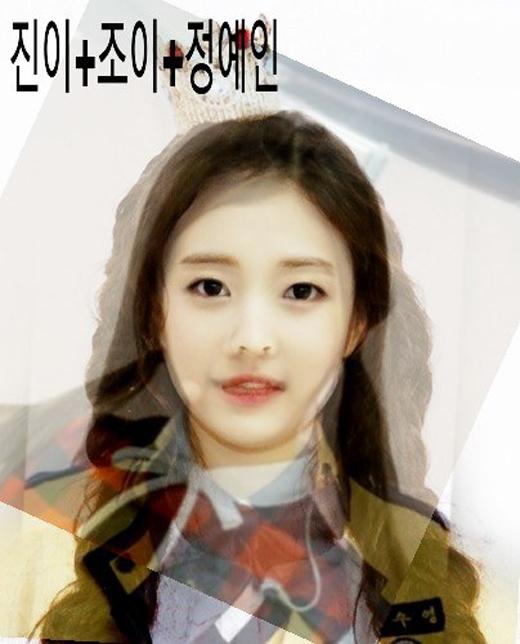 Jinyi, Joy vàYein (Lovelyz) đều có những đường nét khuôn mặt đặc trưng. Vì vậy khi kết hợp lại thì đường nét lại không được rõ ràng.