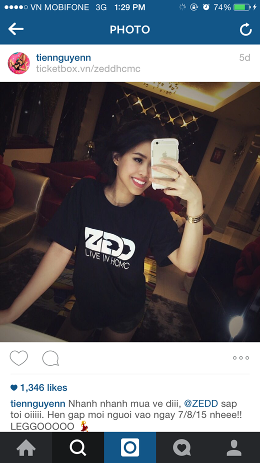 Em chồng Tăng Thanh Hà cũng hòa vào cơn lốc của Zedd Show.