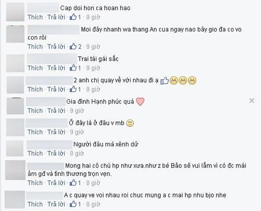 Nhiều người hâm mộ cảm thấy tiếc nuối và mong muốn Hùng Thuận và Thanh Vân có thể quay lại với nhau. - Tin sao Viet - Tin tuc sao Viet - Scandal sao Viet - Tin tuc cua Sao - Tin cua Sao