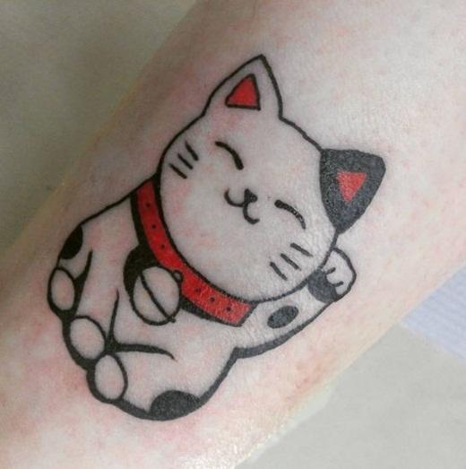 Chú mèo may mắn dễ thương đến từ Nhật Bản.