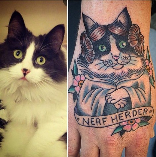 Phát cuồng với loạt hình xăm về mèo siêu-cấp-dễ-thương