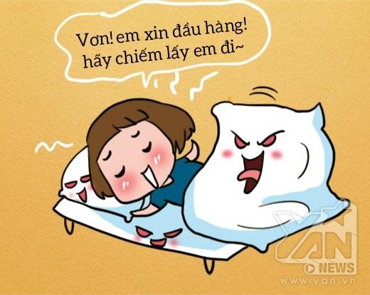 #8. Hãy đề phòng, có khi chiếc giường mà bộ chăn gối ấm áp thực ra chính là một con quái vật đang ngụy trang, được giao nhiệm vụ gây khó dễ cho bạn mỗi sáng đấy!