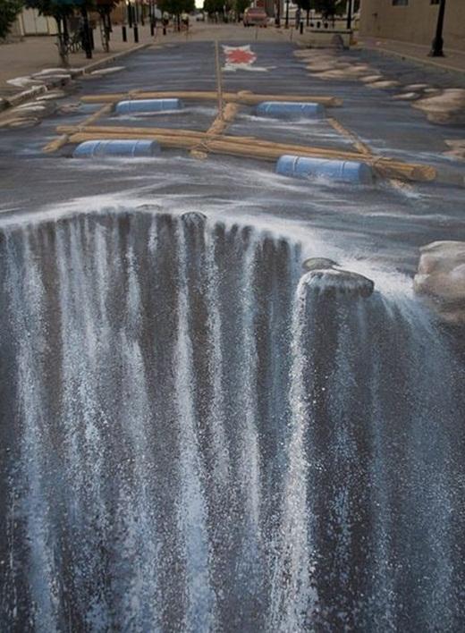Làm cách nào để có thể vượt qua thác nước lớn này?