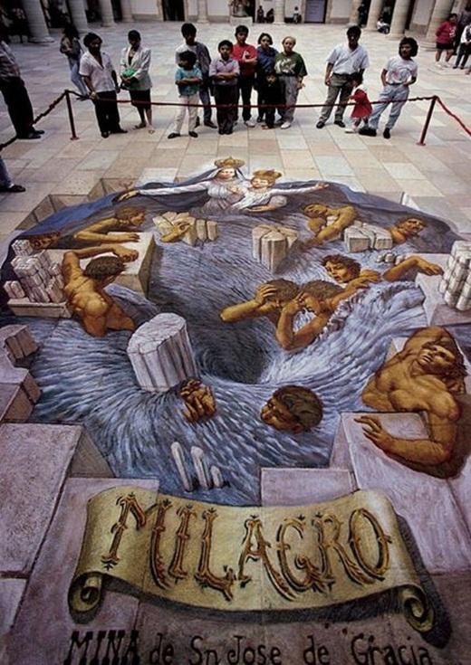 Họ cũng thường dành ra một bảo tàng để triển lãm nghệ thuật 3D ấn tượng.