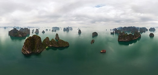 Không còn gì để bàn cãi về vẻ đẹp của vịnh Hạ Long sau khi ngắm nhìn bức ảnh này.